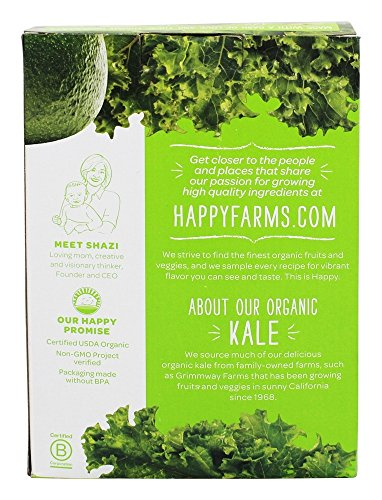 HappyFamily - HappyBaby Organic Clearly Crafted Stage 2 Baby Food 6+ Months Apples, Kale & Avocados - 4 Pouches by Happy Family (Image #3)
