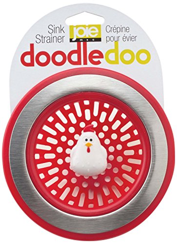 Doodle Doo Rooster Novelty Kitchen Sink Strainer-Red, Set of 2 (Sink Side Strainer compare prices)