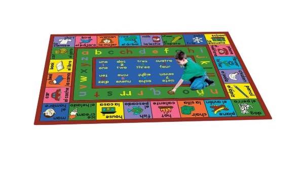Amazon.com: Educational Spanish LenguaLink Kids Rug Rug Size: 109