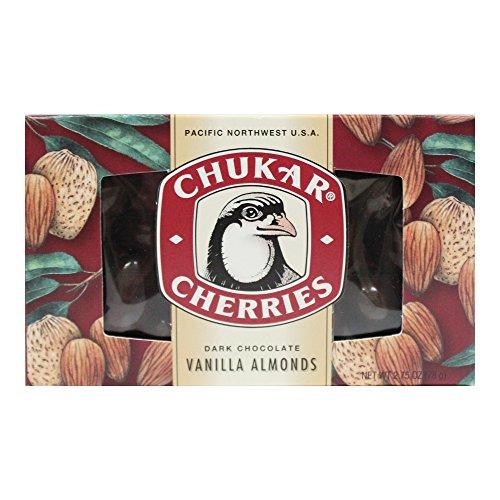 Dark Chocolate Vanilla Almonds - 2.75 oz - Chukar Cherry Co