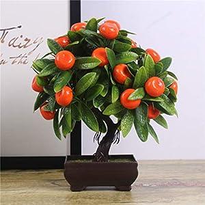YURASIKU Artificial Plants Bonsai Orange Peach Fruit Tree Potted for Home Living Room Decoration Flower Set Shop Hotel Party Decor 20