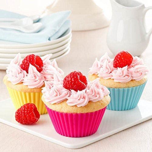 Silicone Cupcake Muffin Baking Cups Liners 36 Pack Reusable Non-Stick Cake Molds Sets by IELEK (Image #3)