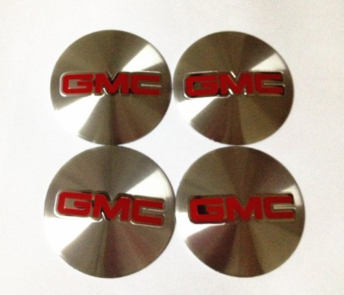 (4 NEW GMC 55 MM WHEEL CENTER CAP EMBLEMS STICKER DECAL)