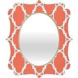Rebecca Allen Pillow Talk Coral Quatrefoil Mirror