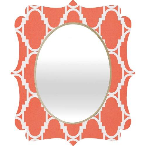 Rebecca Allen Pillow Talk Coral Quatrefoil Mirror by DENY Designs