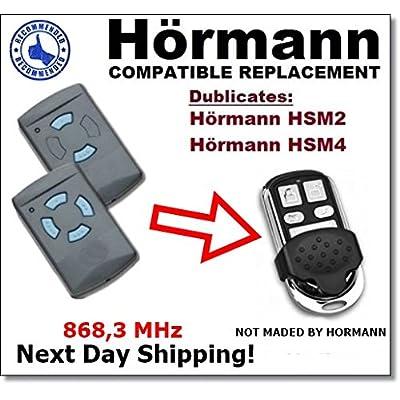 HORMANN HSM2, HSM4 Reemplazo De Control Remoto Compatible Código Fijo 868,3 Mhz Transmisor Para La Automatización De La Puerta Del Garaje
