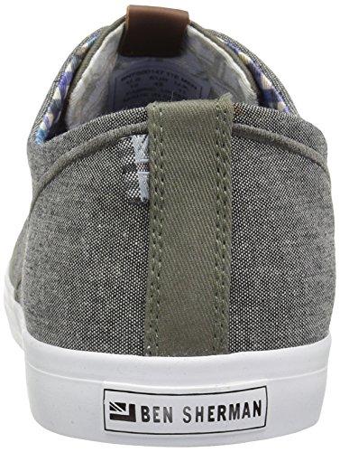 Ben Sherman Mens Rhett Mode Sneaker Oliv - E