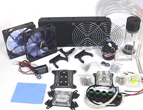 Nhowe Best DIY 240 Water Cooling Kit With CPU GPU Radiato Pump Tank Water Cooling