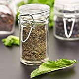 Charmed Cylindrical Clear Glass Spice canning Jar, Set of 24, 2.5 oz