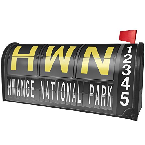 NEONBLOND HWN Airport Code Hwange National Park Magnetic Mailbox Cover Custom Numbers