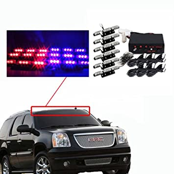 amazon com koolertron 54 led emergency vehicle strobe lights rh amazon com Police Vehicle Wiring VDO Wiring Harness