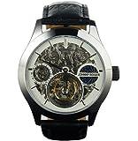彫り 腕時計の最高峰 フライングトゥールビヨン JOHNNYROGER 本格 GMT 機械式 手巻き メンズ 腕時計 meister