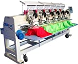 6 head embroidery machine - CAMFive CFHS-CT1506 10H 6 heads, 15 needle embroidery machine, free onsite installation & training and unlimited support