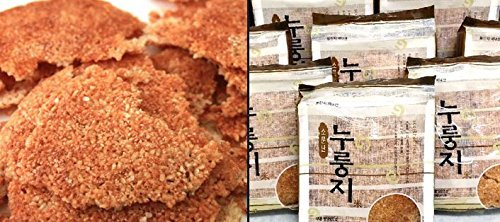 Korean Traditional Healthy Crispy Scorched Rice, Nooroongji 200g (5 Pack)