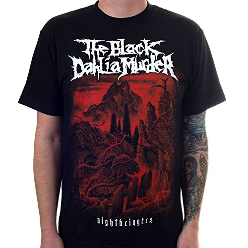 (The Black Dahlia Murder Men's Nightbringers Album Cover T-Shirt Black M)