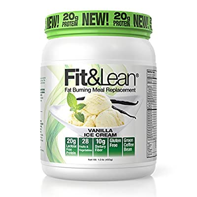 Fit & Lean Fat Burning Meal Replacement, Vanilla, 1 Pound