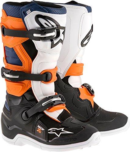 Alpinestars Tech 7S Youth Motocross Boots - Black/Orange - Youth 3 ()