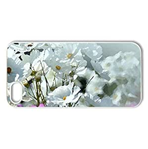 many cosmos ! - Case Cover for iPhone 5 and 5S (Flowers Series, Watercolor style, White)