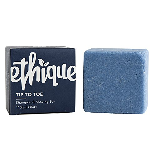 Ethique Eco-Friendly Solid Shampoo & Shaving Bar, Tip To Toe 3.88 oz (Solid Tip)