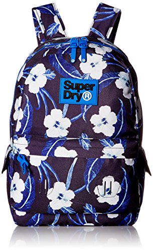 Superdry Unisex Print Edition Montana Backpack, Hibiscus Navy Marl, One - Childrens Superdry
