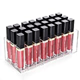 Lip Gloss Holder Lipstick Organizer, HBlife 24 Spaces Clear Acrylic Makeup Lipgloss Display Case