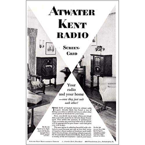 1929 Atwater Kent Radio: Screen Grid Your Radio and Your Home, Atwater Kent Print Ad