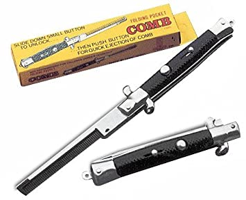 Switchblade Pocket Comb - Folding Greaser Comb (By the Dozen)