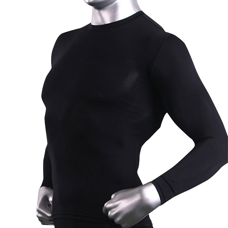 Mens Winter SKIN tight Compression Sports Thermal warm shirts Long ...