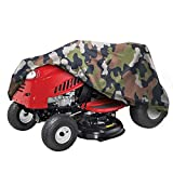 NEXCOVER Riding Lawn Mower Cover-Fits Decks up to 56',Heavy Duty Waterproof, Double P.U Coated 300D Denier,Camo Color