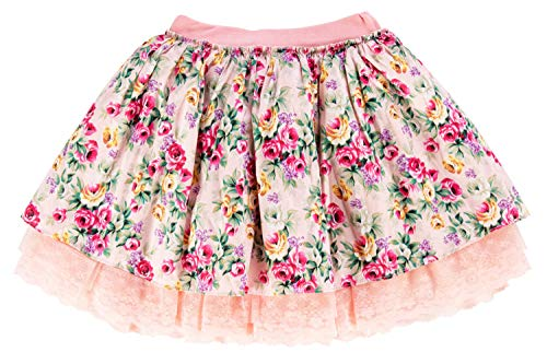 storeofbaby Girls Floral Tutu Skirts Princess Soft Mini Wedding Party Pettiskirt