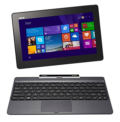 ASUS T100 2 in 1 10.1 Inch Laptop (Intel Atom, 2 GB, 64GB SSD, Gray)