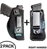 Neoprene IWB Inside The Waistband Handgun/Pistol Holster With Mag Pouch Bundle | Gun For Concealed Carry, Universal | Fits: S&W M&P Shield, Glock 17 19 26 27 42 43, Sig Sauer, Ruger, Walther (Right)