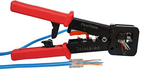 RJ45 Professional Heavy Duty Crimp Tool for pass through and legacy connectors