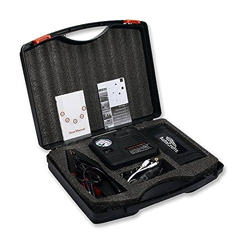 Autocraftz 500A Peak 13600mAh Jump Starter with Air Compressor – Jumper Cables for Automotive (Air Compressor Jumper)