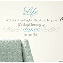 RoomMates RMK2029SCS Dance in The Rain Quote Peel and Stick Wall Decals