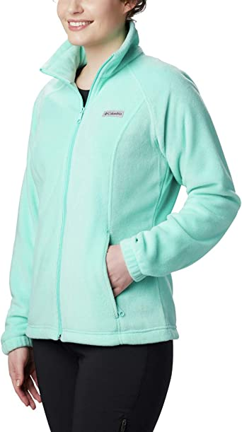 Columbia Womens Benton Springs Full Zip Jacket Crystal Blue Petite X-Small Soft Fleece with Classic Fit