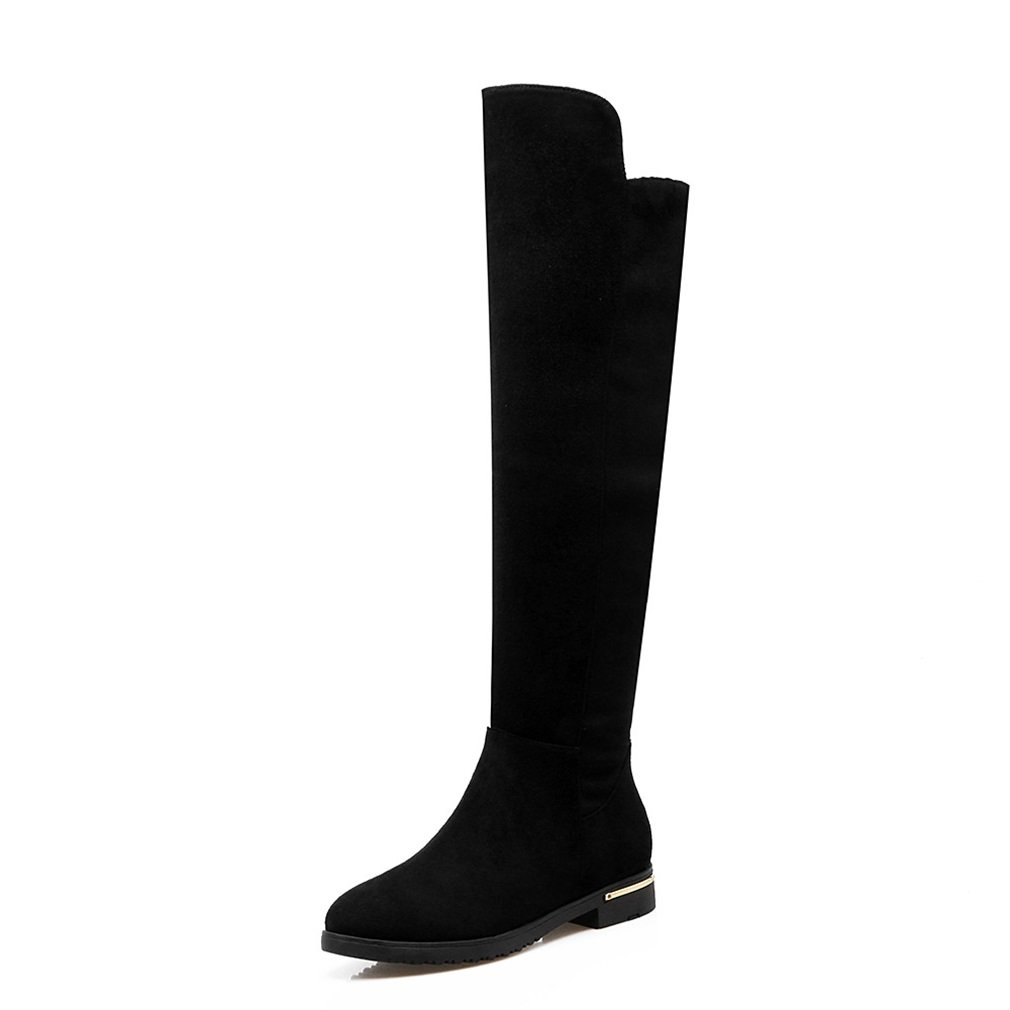 c862451912514 Xianshu Wo Zip Up Over Over Over The Knee High Bottes Flat Heel Fur Warm  ShoesB073RKL8DXParent eb5705