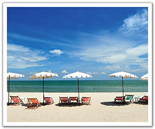 - JP London POS2416 uStrip Peel and Stick Removable Wall Decal Sticker Mural Calm Cabana Beach Solitude Oasis, 24-Inch by 19.75-Inch