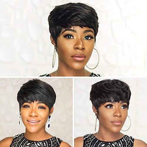 Amazon Com Ainia Short Human Hair Wigs Short Pixie Cut Wigs Centering Lace Short Wigs Human Hair Short Wigs W1304b Beauty