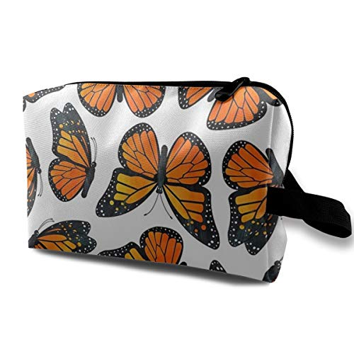 - Lofout Monarch Butterfly Pattern Cosmetic Bags Small Makeup Clutch Pouch Cosmetic and Toiletries Organizer Bag Women Makeup Travel Storage 10 X 6.3 X 5 Inch