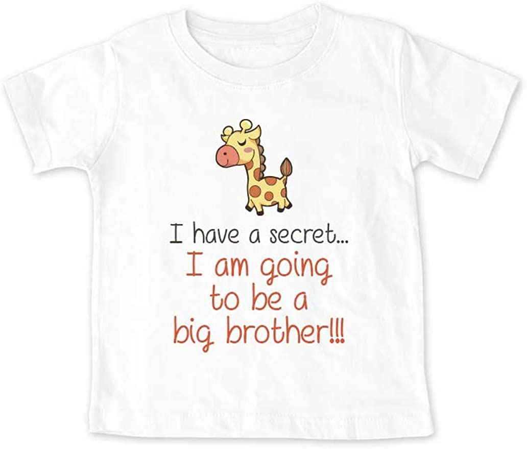 I am Going to be a Big Brother Giraffe Baby Pregnancy Toddler Shirt I Have a Secret