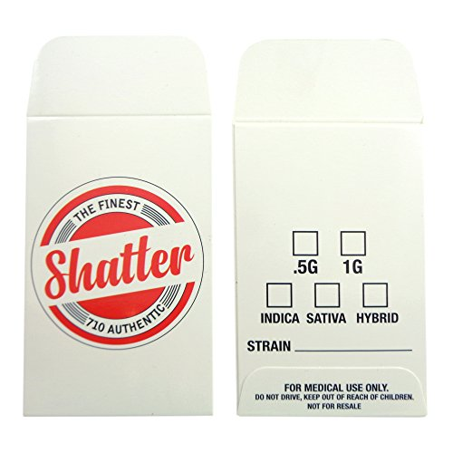 1000 The Finest Shatter Premium Concentrate Envelopes by Shatter Labels #130 by Shatter Labels