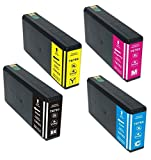 4 Pack Elite Supplies ® Remanufactured Inkjet Cartridge Replacement for #676 #676XL T676 T676XL, Epson T676XL120, T676XL220, T676XL320, T676XL420 Works With Epson WorkForce Pro WP-4020, WorkForce Pro WP-4530, WorkForce Pro WP-4540, WorkForce Pro WP-4010, WorkForce Pro WP-4023, WorkForce Pro WP-4090, WorkForce Pro WP-4520, WorkForce Pro WP-4533, WorkForce Pro WP-4590 (1 Black, 1 Cyan, 1 Magenta, 1 Yellow)