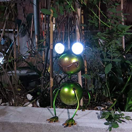 Frog Solar Lights Metal Arts Lights Garden Decoration Lawn Cute Animal LED Lamp for Yard Pathway