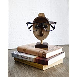 Eyeglass Stand : Wooden Spectacle Holder Eyeglass Holder Handmade Nose Display Stand Home Office Desk Decor Accessories