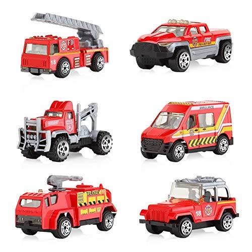 Tire atrás coches aleación vehículos conjunto mini coche modelo construcción y camiones raced para niños pequeños...