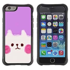 Suave TPU Caso Carcasa de Caucho Funda para Apple Iphone 6 PLUS 5.5 / Cute Puppy Pink White / STRONG