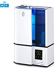 , Ultrasonic Humidifier for Home Bedroom, Baby Room, Adjustable Mist and Humidity Levels, Sleep Mode, Timer, Auto Shut-Off, 360°Nozzle, 110V-Blue