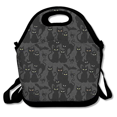 Halloween Cats Eyes On You Lunch Bag Lunch Tote Bag for Men Women Lunch Box Insulated Lunch Container Picnic Bag -