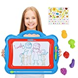 NextX Big Size Magnetic Drawing Board Toy for 3+ year old kids Meg asketcher Doodle Educational Toys gift set with 5 Shape Stamps and Lovely Sticker